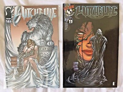 WITCHBLADE #7 & #11 - Top Cow Michael Turner - 1996 VF/NM