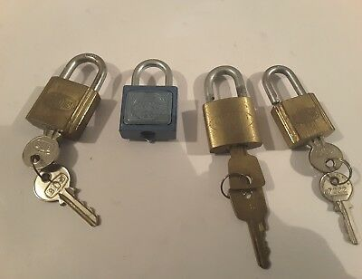Collectables Padlocks x 4 with keys
