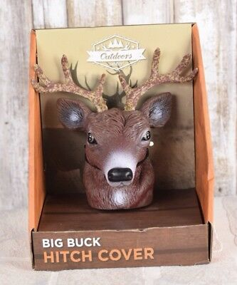Big Buck Hitch Cover - Vinyl Protects Against Rust - Fits Standard Hitch - NWT