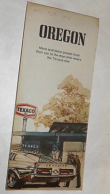 Vintage 1972 TEXACO OIL Co. Travel Map : OREGON