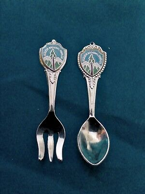 "2.5"" SEQUOIA NATIONAL PARK, CA  spoon&fork souvenir set USA"