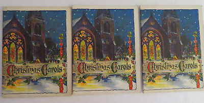 LOT of 3 JOHN HANCOCK CHRISTMAS CAROL BOOKLETS ISSUE 115 KOSCIE H MARSH AGENT