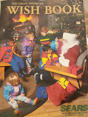 Vintage 1992 Sears Christmas Wish Book catalog