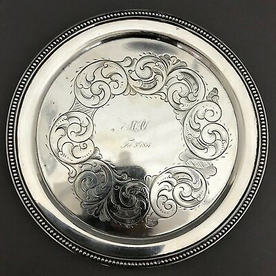 Hayden & Whilden Charleston South Carolina Southern Coin Silver Footed Salver