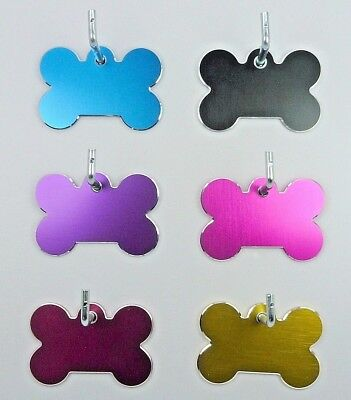 Pet Tags ~ Large Milled Bones ~  Engraved to Order