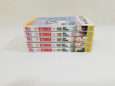 Shojo Beat Manga Otomen Vol 1-5 Books Lot (English Text)