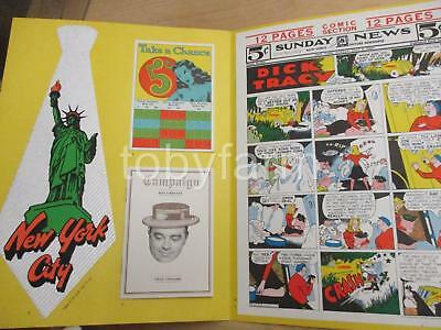 1970's Fiorella Laguardia Union Camp Papers Adv. W/dick Tracy Comic & Record +++