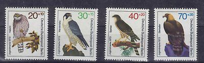 16 BRD Bund Germany Mi.-Nr.: 442 443 444 445  Vögel postrisch Top!