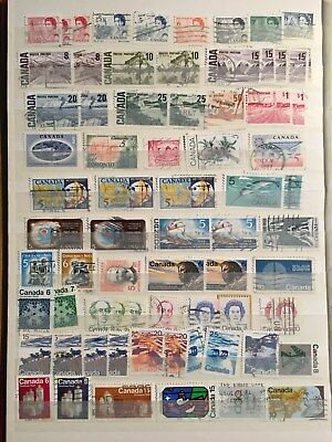Assorted Canada postage stamps, Queen Elizabeth, mostly 1970s, used