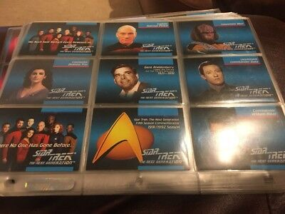 Star Trek Next Generation Complete Card Set Paramount 92 Sci Fi Impel
