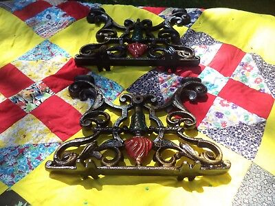 Two Nice Old Antique Cast Iron Architectural Furniture Victorian Stool Legs