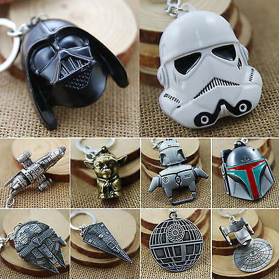 Star Wars Mini keychain Metal Millennium Yoda Darth Vader Pendant Keyring Chain