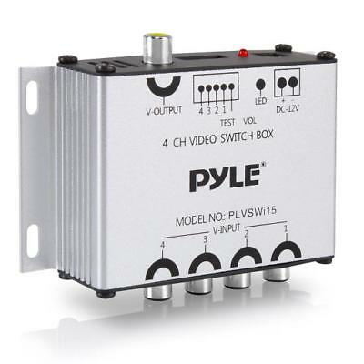 Pyle PLVSWI15 4-Channel Camera & Video Switcher - Switch Box Controller