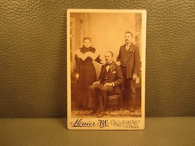 Victorian Antique Cabinet Card Photo of Family