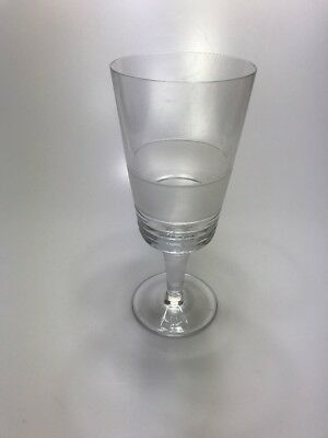"Miller Rogaska Sateen Iced Tea Goblet 8 1/2"" Clear Crystal Glass Stemmed"