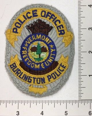 Vintage Burlington Vermont Police Patch