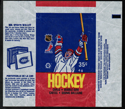 1986-87 O-Pee-Chee Hockey Wrapper From Wax Pack NRMT ref#1