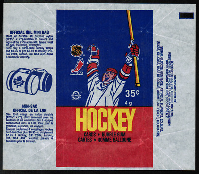 1986-87 O-Pee-Chee Hockey Wrapper From Wax Pack NRMT ref#2