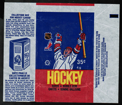 1986-87 O-Pee-Chee Hockey Wrapper From Wax Pack NRMT ref #4