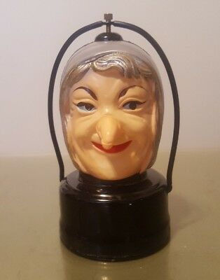 Vintage Witch battery operated blinking Lantern Light