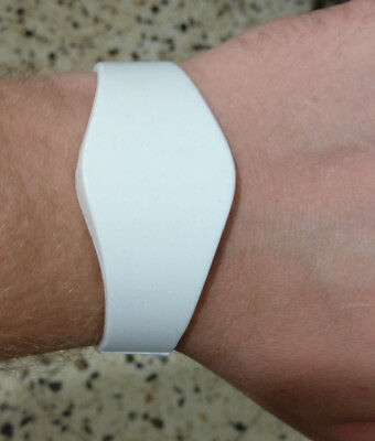 1 of 64mm White Wristband Proximity Prox- HID 1326 1386 26Bit H10301 compatible