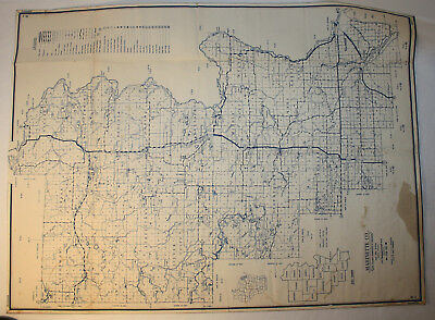 1951 Marinette County - Vintage State Highway Commission of Wisconsin Map