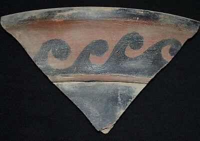 Ancient Greek Painted Hydria Fragment, c 350-250 Bc. Polychromic Pottery Shard