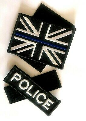 Thin Blue Line - Police - Union Jack Velcro backed patch With Free Police Patch