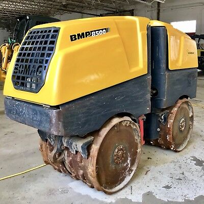 Bomag BMP8500 walk behind trench padfoot vibratory double drum compactor roller