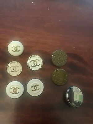 Chanel Set Of 8  Variey Buttons
