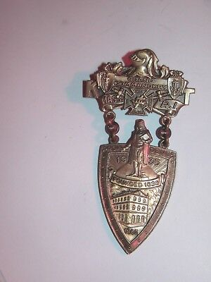 1935 Grand Commandery Medal Rhode Island Ma. Knights Of Templar