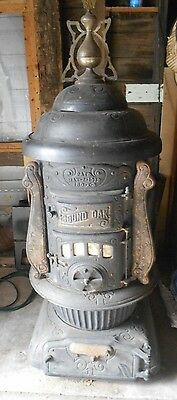 "Antique ""Round Oak 180-X-3"" Large Wood Burning Stove - PAT'D MAY 7, 1912"