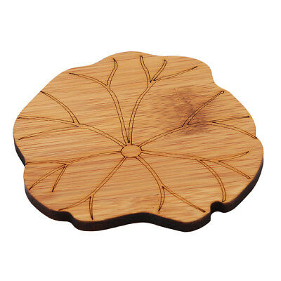 Wooden Heat Insulation Tea Cup Holder Mat Pad Coffee Drinks Placemat LH
