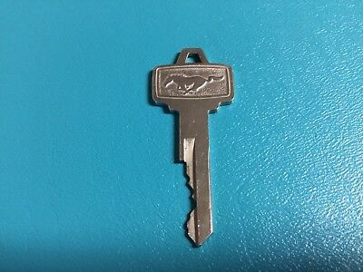 Vtg FORD Mustang brass car Key Galloping Horse Property of FORD Motor Co