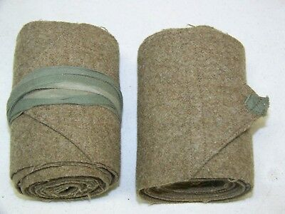 Pair of WWI U.S. Army Wool Leg Wraps Puttees Leggings