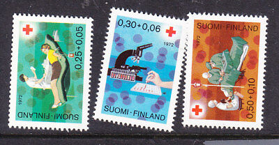 Finland Red Cross 1972 Complete set 820/22 Mint
