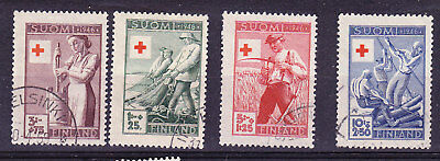 Finland Red Cross 1946 Complete set 412/15 FU