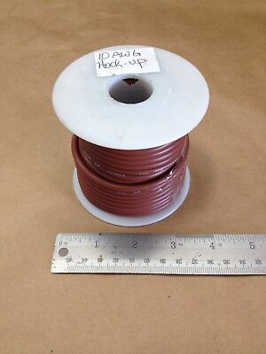 ( 45 FT Spool ) UL 1015 ( 10Awg ) Brown Cable Wire 600V AWM