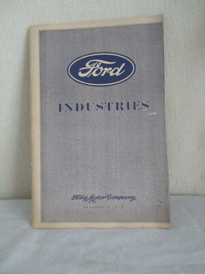 Old FORD INDUSTRIES BOOK *Copyright 1929 *Vintage Car Collectible