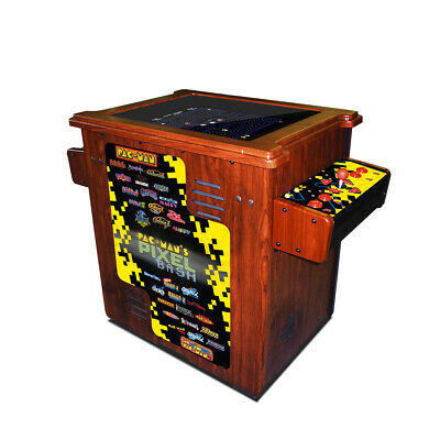 Pac-Man Pixel Bash Arcade Style Cocktail Table Game - Woodgrain - 32 Games
