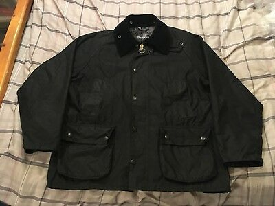 Barbour Bedale Lined Waxed Cotton Coat Jacket Men's 40 Tartan Made in England