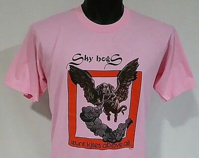 Vintage 80s Sky Hogs T shirt L Sunt Kites Above All Tee NOS