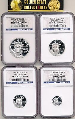 2008 W $100,$50,$25,$10 Proof Platinum Set Ngc Pf70 Ucam Early Releases The Best
