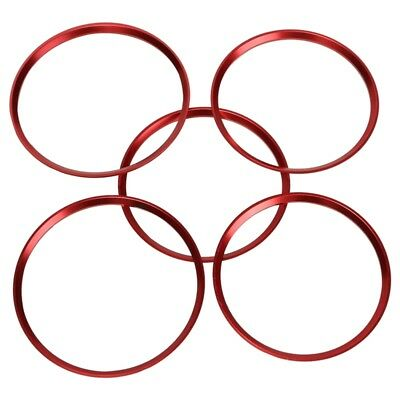 5X Red Air Vent Outlet Cover Ring Trim For Benz A Class A200 A180 A220 W176 A3N7