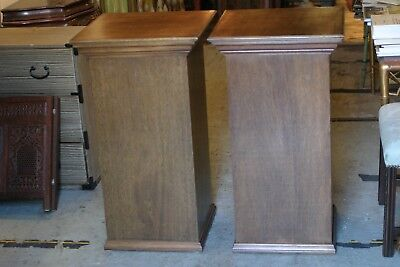 pair of vintage large wood columns/ pedestals indoor display of huge antique art
