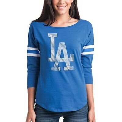 28eb1e09 WOMEN'S NEW ERA Royal Los Angeles Dodgers Scoop Neck 3/4-Sleeve T ...