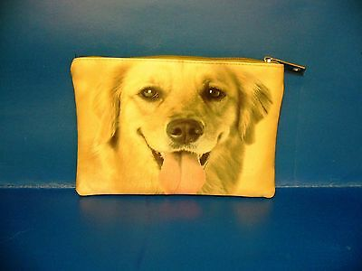 Dog Puppy Pet Golden Retriever Cosmetic Bag Purse BAG330 NEW