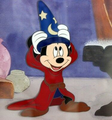 """Walt Disney's, """"Mickey the Sorcerer's Apprentice"""", Cericell, Autographed"""
