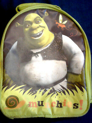 Shrek Munchies W/Special Feat Burping Sounds THERMOS Brand Soft Insul.Lunch Bag