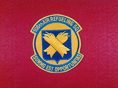 U.s.a.f. 106Th Air Refueling Squadron, New Condition,80's, Beautiful Patch.